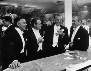 kings of hollywood: clark gable, van heflin, gary cooper, and james stewart at romanoff's in beverly hills by slim aarons