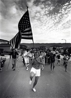 we had a ball on the fourth of july. the whole neighborhood came out for the parade. by bill owens