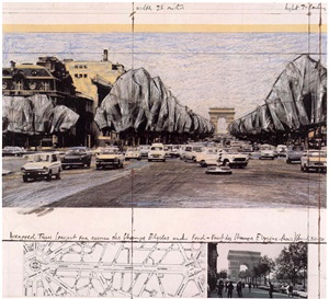avenue champs elysees by christo and jeanne-claude