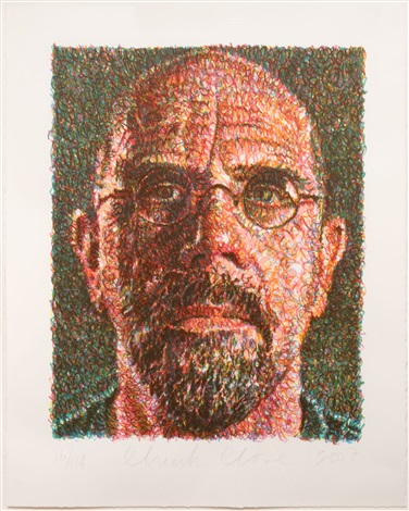 selfportrait by chuck close