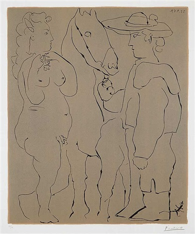 picador and horse by pablo picasso