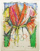 multicoloured robe for the seoul olympics by jim dine