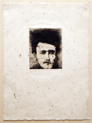 rimbaud, alchemy on japanese paper by jim dine