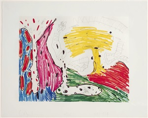 seven places #4 (suite of 7) by carroll dunham