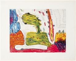 seven places #6 (suite of 7) by carroll dunham