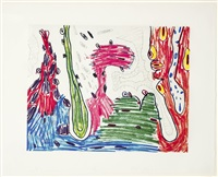 seven places #7 (suite of 7) by carroll dunham