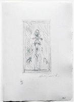 "small standing nude, from ""catalogue kornfeld & klipstein"" by alberto giacometti"