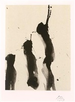 nocturne iv, from the octavio paz suite by robert motherwell