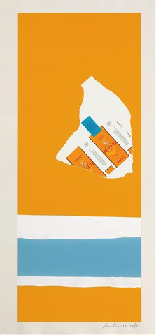 harvest with two white stripes, from the summer light series by robert motherwell