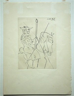 "plate i from ""le carmen des carmen"" by pablo picasso"