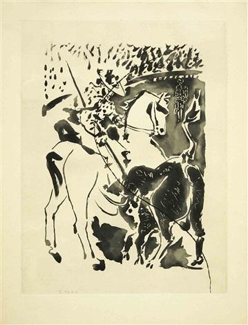"""picador et taureau, from """"le carmen des carmen"""" by pablo picasso"""