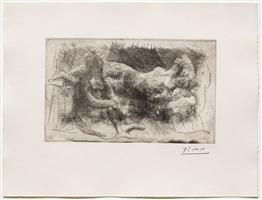 femme assise et femme etendue (dormeuse veillee par une femme allongee) by pablo picasso
