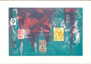 canfield hatfield, plate 3 by david salle