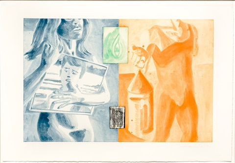 canfield hatfield, plate 4 by david salle