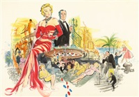 the monte carlo story, movie poster art by irv doctor