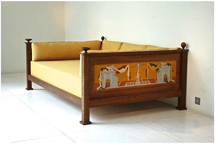lit de repos en chêne by andré arbus