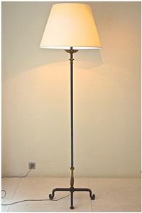 lampadaire en fer forgé by gilbert poillerat