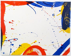 untitled, from portfolio 9 by sam francis