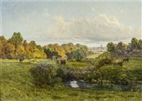 pastoral landscape by jean ferdinand monchablon