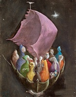 en el barco (sold) by leonora carrington