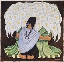mujer con alcatraces (sold) by diego rivera