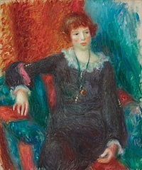 woman with watch by william glackens