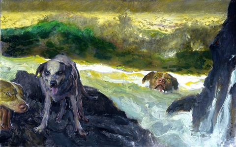 swim dogs by jamie wyeth