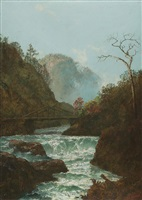 pawpack falls, hawley, pennsylvania by ralph albert blakelock