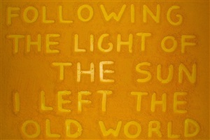 """christopher columbus quote:"""" following the light of the sun i left the old world """" by bettina werner"""