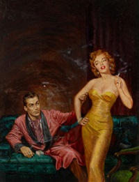 the big fake, paperback cover by george gross