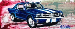 blue mustang by mitchell schorr