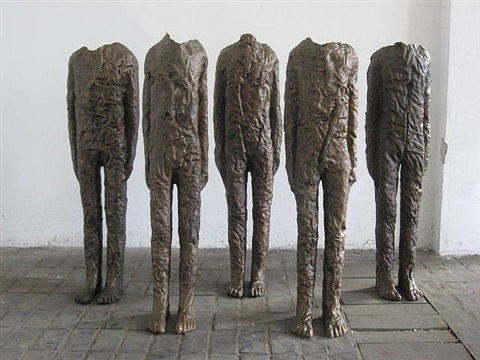the group of five with arms by magdalena abakanowicz