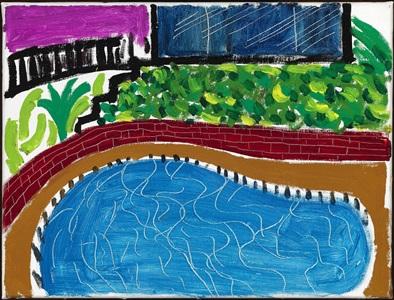 montcalm pool, los angeles by david hockney