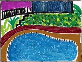 montcalm pool, los angeles by david hockney