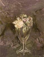 pivoines dans un vase de cristal by paul césar helleu