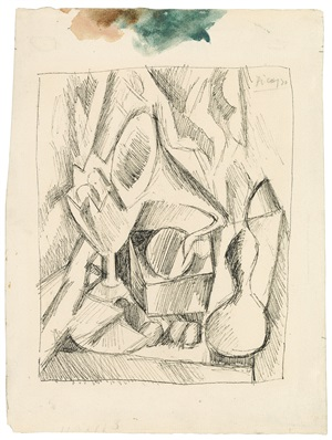 nature morte au gramophone by pablo picasso