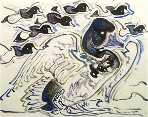 scuap (ducks) by walter inglis anderson