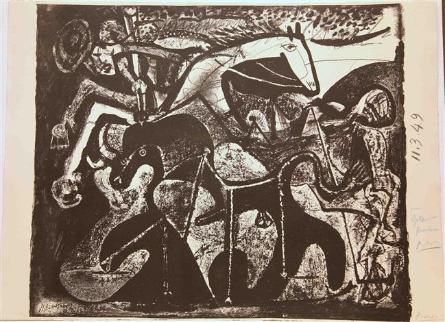 corrida, le picador (bloch b599) by pablo picasso