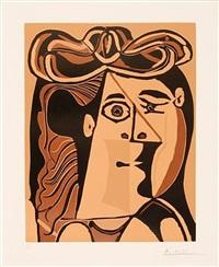 tête de femme au chapeau (bloch b1070) by pablo picasso