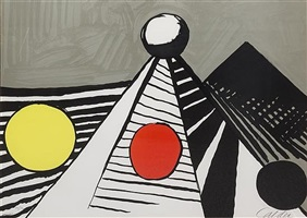 pyramids and circles by alexander calder