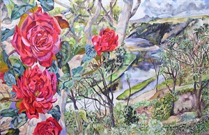 roses on the chavon river by patricia tobacco forrester