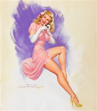 girl on phone by earl macpherson