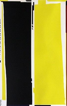 untitled (abstract yellow & black) by roy lichtenstein