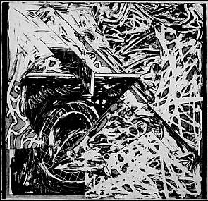 swan engraving iii by frank stella
