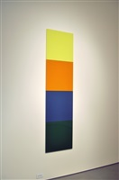 untitled (lemon yellow, yellow orange, azure blue, leaf green) by thor vigfusson