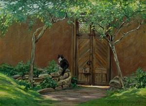 """by the garden gate"" by terri kelly moyers"