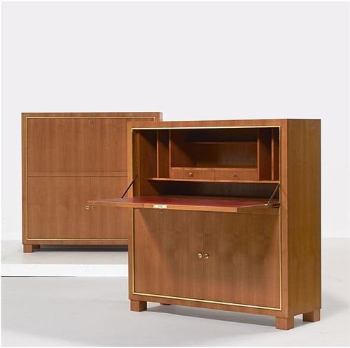 paire de meubles d'appui by paul dupré-lafon