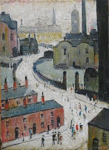 industrial scene by laurence stephen lowry