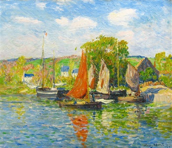 quimper le quai by henry moret
