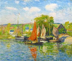quimper, le quai by henry moret